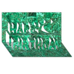 MARBLE GREEN Happy Birthday 3D Greeting Card (8x4)