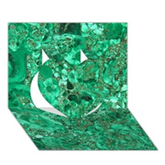 MARBLE GREEN Heart 3D Greeting Card (7x5)