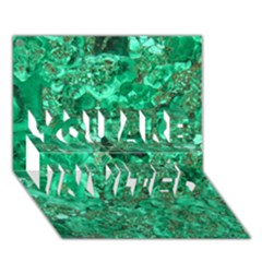 MARBLE GREEN YOU ARE INVITED 3D Greeting Card (7x5)