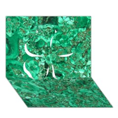 MARBLE GREEN Clover 3D Greeting Card (7x5)