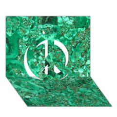 MARBLE GREEN Peace Sign 3D Greeting Card (7x5)