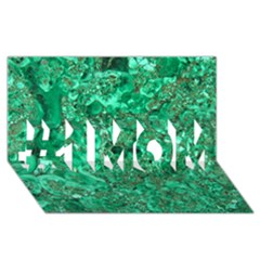 Marble Green #1 Mom 3d Greeting Cards (8x4)