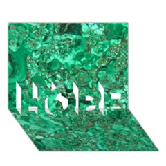 MARBLE GREEN HOPE 3D Greeting Card (7x5)