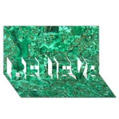 Marble Green Believe 3d Greeting Card (8x4)