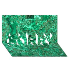 MARBLE GREEN SORRY 3D Greeting Card (8x4)