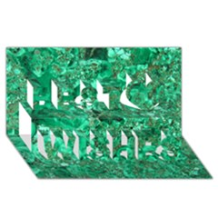 Marble Green Best Wish 3d Greeting Card (8x4)