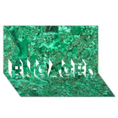 MARBLE GREEN ENGAGED 3D Greeting Card (8x4)
