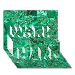 Marble Green Work Hard 3d Greeting Card (7x5)