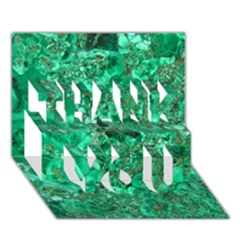 MARBLE GREEN THANK YOU 3D Greeting Card (7x5)