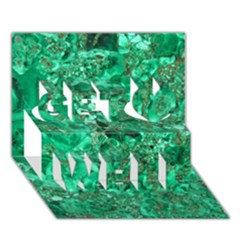 MARBLE GREEN Get Well 3D Greeting Card (7x5)