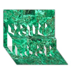 Marble Green You Rock 3d Greeting Card (7x5)