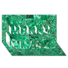 MARBLE GREEN Merry Xmas 3D Greeting Card (8x4)