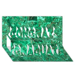 MARBLE GREEN Congrats Graduate 3D Greeting Card (8x4)