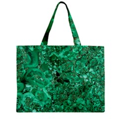 Marble Green Zipper Tiny Tote Bags