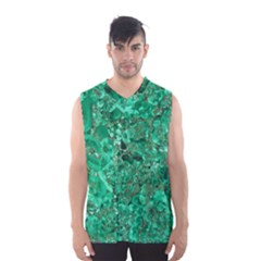 MARBLE GREEN Men s Basketball Tank Top