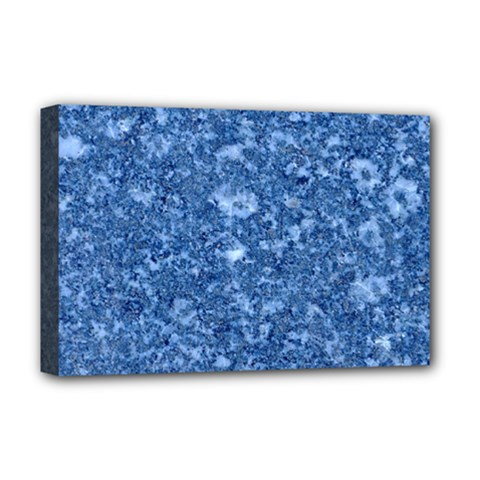 MARBLE BLUE Deluxe Canvas 18  x 12