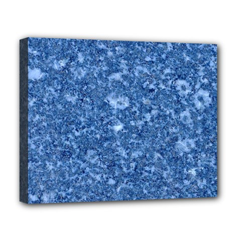 MARBLE BLUE Deluxe Canvas 20  x 16