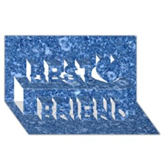 MARBLE BLUE Best Friends 3D Greeting Card (8x4)