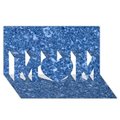 Marble Blue Mom 3d Greeting Card (8x4)