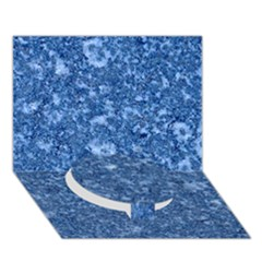 Marble Blue Circle Bottom 3d Greeting Card (7x5)