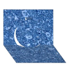 Marble Blue Circle 3d Greeting Card (7x5)