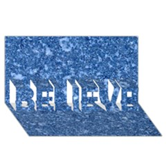 MARBLE BLUE BELIEVE 3D Greeting Card (8x4)
