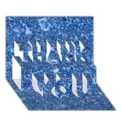 MARBLE BLUE THANK YOU 3D Greeting Card (7x5)