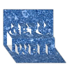 MARBLE BLUE Get Well 3D Greeting Card (7x5)