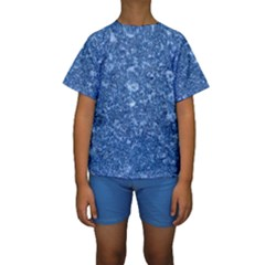 MARBLE BLUE Kid s Short Sleeve Swimwear