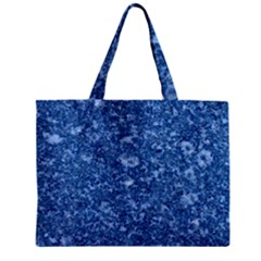 MARBLE BLUE Zipper Tiny Tote Bags