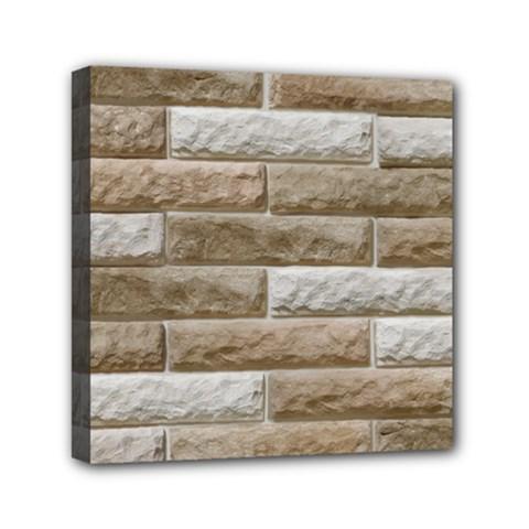 Light Brick Wall Mini Canvas 6  X 6