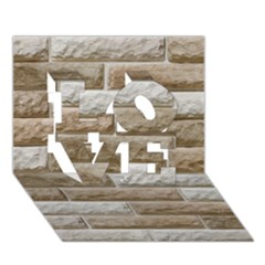 LIGHT BRICK WALL LOVE 3D Greeting Card (7x5)