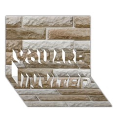 Light Brick Wall You Are Invited 3d Greeting Card (7x5)