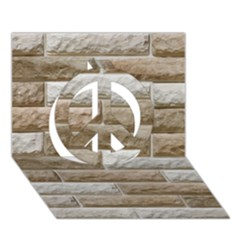 LIGHT BRICK WALL Peace Sign 3D Greeting Card (7x5)