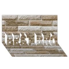 LIGHT BRICK WALL BEST BRO 3D Greeting Card (8x4)