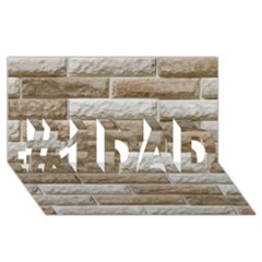 Light Brick Wall #1 Dad 3d Greeting Card (8x4)