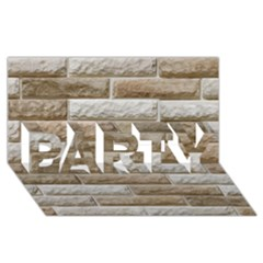LIGHT BRICK WALL PARTY 3D Greeting Card (8x4)