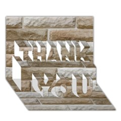 LIGHT BRICK WALL THANK YOU 3D Greeting Card (7x5)