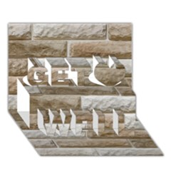 Light Brick Wall Get Well 3d Greeting Card (7x5)