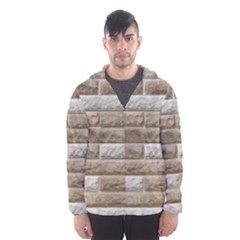 LIGHT BRICK WALL Hooded Wind Breaker (Men)