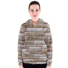 LIGHT BRICK WALL Women s Zipper Hoodies
