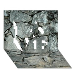 GREY STONE PILE LOVE 3D Greeting Card (7x5)