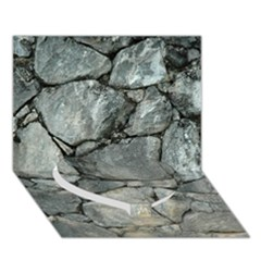 GREY STONE PILE Heart Bottom 3D Greeting Card (7x5)