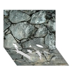 GREY STONE PILE LOVE Bottom 3D Greeting Card (7x5)