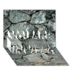 GREY STONE PILE YOU ARE INVITED 3D Greeting Card (7x5)