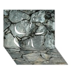GREY STONE PILE Clover 3D Greeting Card (7x5)