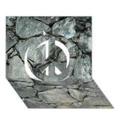 Grey Stone Pile Peace Sign 3d Greeting Card (7x5)