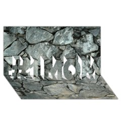 Grey Stone Pile #1 Mom 3d Greeting Cards (8x4)
