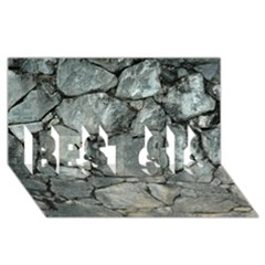 GREY STONE PILE BEST SIS 3D Greeting Card (8x4)
