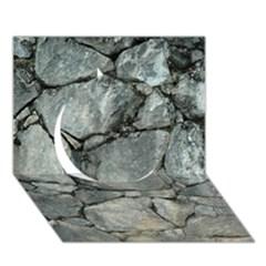GREY STONE PILE Circle 3D Greeting Card (7x5)